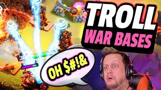 I GOT TROLLED! Attacking RIDICULOUS Town Hall 9 Bases