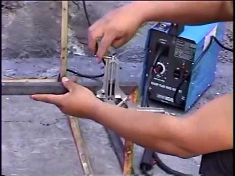 prensas para esquina soldar flux core microalambre  YouTube