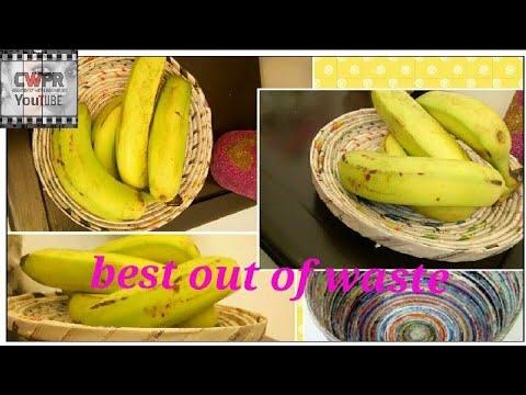 Newspaper basket for fruits/vegetables ll DIY @home