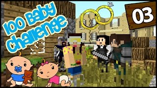 Minecraft: 100 Baby Challenge - EP 3 - I'M MARRIED!