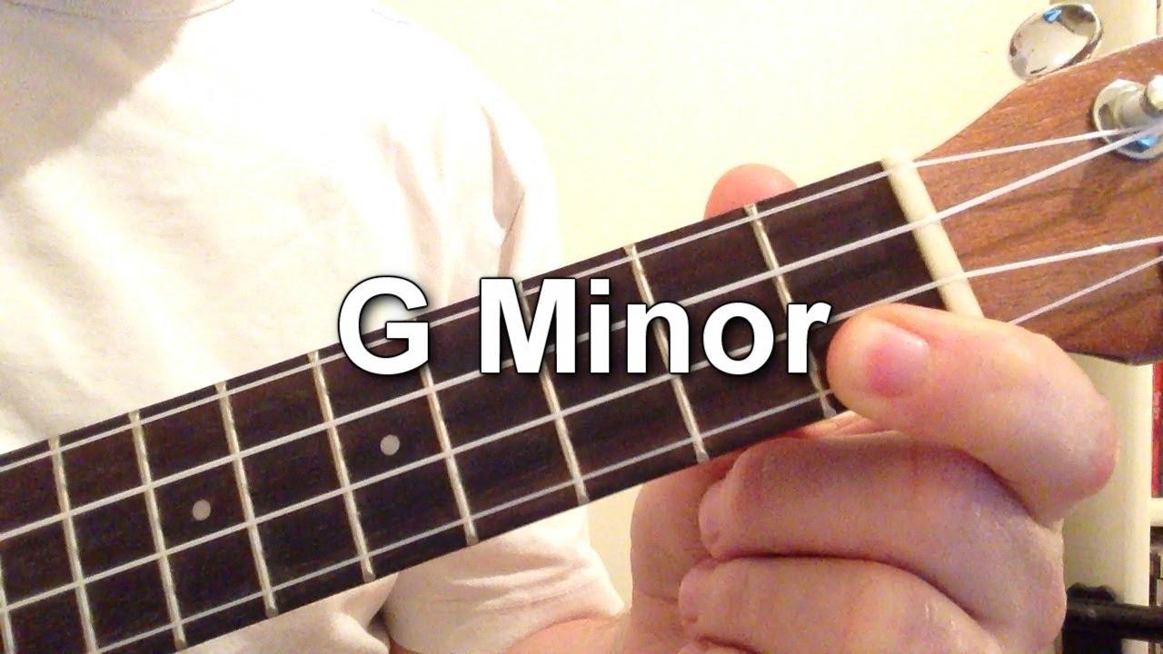 How To Play G Minor Chord On The Ukulele Youtube