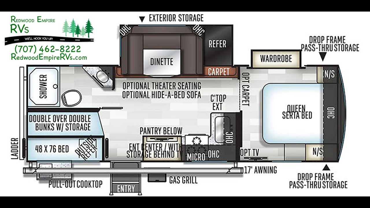 diagram of bunkhouse 2020 forest river flagstaff 26bws bunkhouse travel trailer youtube  2020 forest river flagstaff 26bws