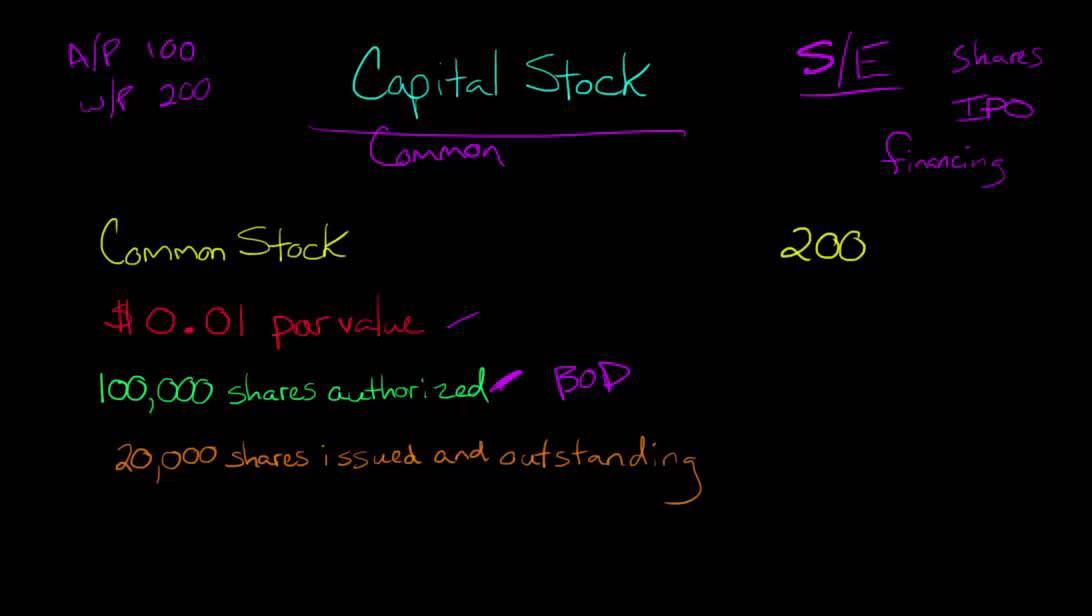 Capital Stock (Common Stock and Preferred Stock)