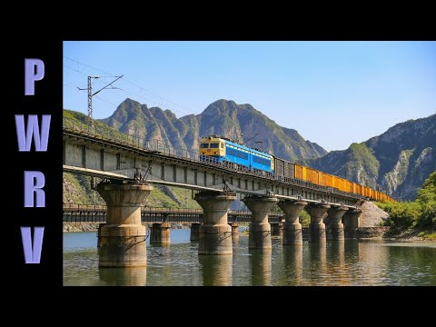 Chinese Railways - Freight & passenger trains hauled by diesel & electric traction at Luopoling, BJ
