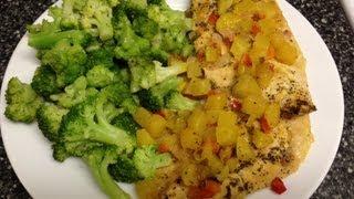 Weight Watchers 3 Point Dinner Recipe!! Mango Chicken!!! So Good! Quick & Easy!