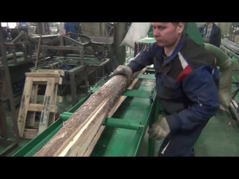 станок СПБ-8м тонкомерный бревнопильный перерабатывает тонкомер в обрезные доски за 1 проход
