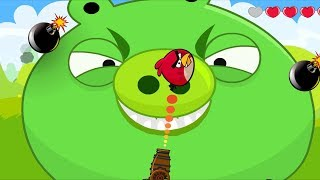Angry Birds Cannon Collection 1 - BLAST GIANT PIGGIES WITH ONE SMALLES BIRDS LEVEL!