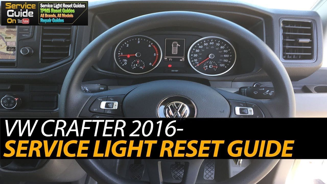 VW Crafter 2016- Service Light Reset