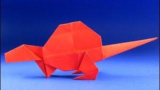 Как сделать динозавра из бумаги. Оригами динозавр - Диметродон
