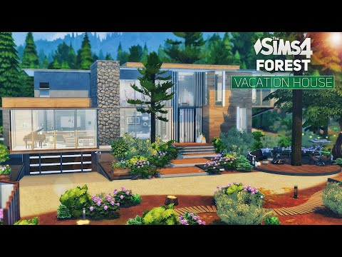 🍂FOREST Vacation MODERN House | Luxury Interior | No CC | THE SIMS 4 \ Stop Motion