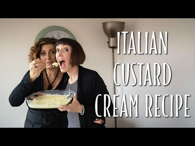 Italian pastry cream, custard cream recipe - Foodie Sisters in Italy