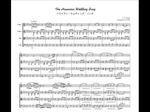 Image Only Hawaiian Folk Song Wedding For String Quartet JM004
