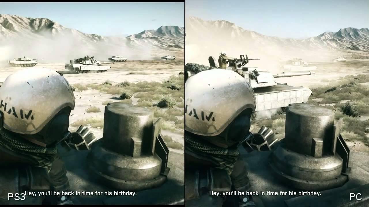 Battlefield 3 PS3 vs PC Ultra Slow Motion YouTube