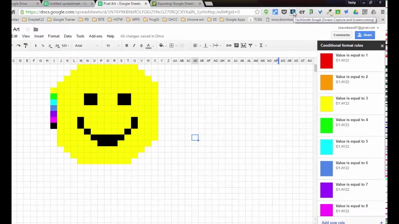 Image result for How to Make Pixel Paintings with Google Spreadsheets.