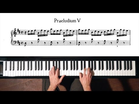 Bach Prelude and Fugue No.5 (Fast Tempo-1) Well Tempered Clavier, Book 1 with Harmonic Pedal