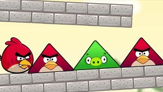 Angry Birds Piggies Out - KICK TRIANGLE PIGS RESCUE GREEN BIRDS!!