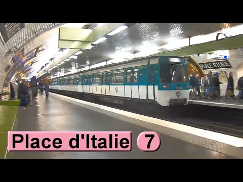 m tro de paris place d 39 italie ligne 7 ratp mf77 youtube. Black Bedroom Furniture Sets. Home Design Ideas