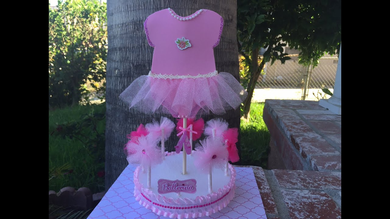Baby Shower Ballerina Centerpiece Youtube