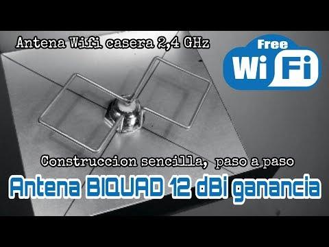 CONSTRUCCIÓN ANTENA WIFI BIQUAD 12dBi