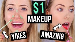 FULL FACE $1 MAKEUP || What Worked & What DIDN'T