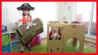 海賊ごっこ エアズーカーでやっつけろ!! 宝探し探検ごっこ こうくんねみちゃん thumbnail