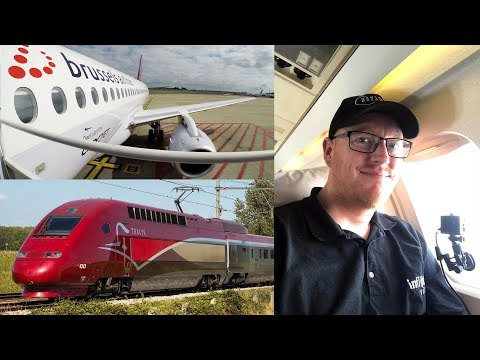 London to Birmingham with  VLM Fokker 50, Brussels Airlines Sukhoi SSJ100 and Thalys Train
