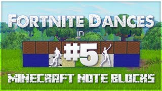 ♪ Fortnite Dances in Minecraft Note Blocks (Star Power, True Heart, Smooth Moves) ♪