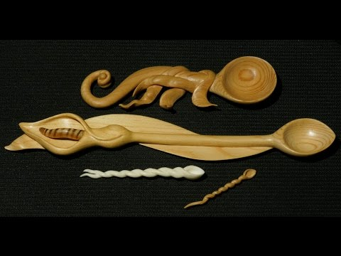 Hand Carved Love Spoons For St David's Day