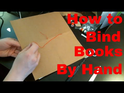 How to Bind a Book By Hand