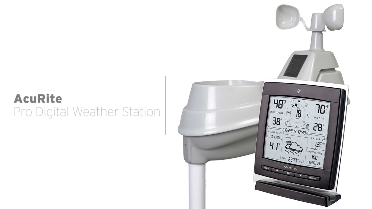 acurite professional digital weather station 01524 youtube