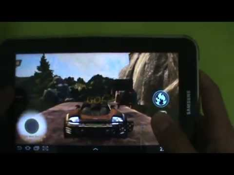 Gameplay Android - Flatout Stuntman - Samsung Galaxy Tab P6210 - PT-BR - Brasil