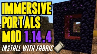 IMMERSIVE PORTALS MOD 1.14.4 minecraft - how to download & install Portal mod 1.14.4 (with Fabric)