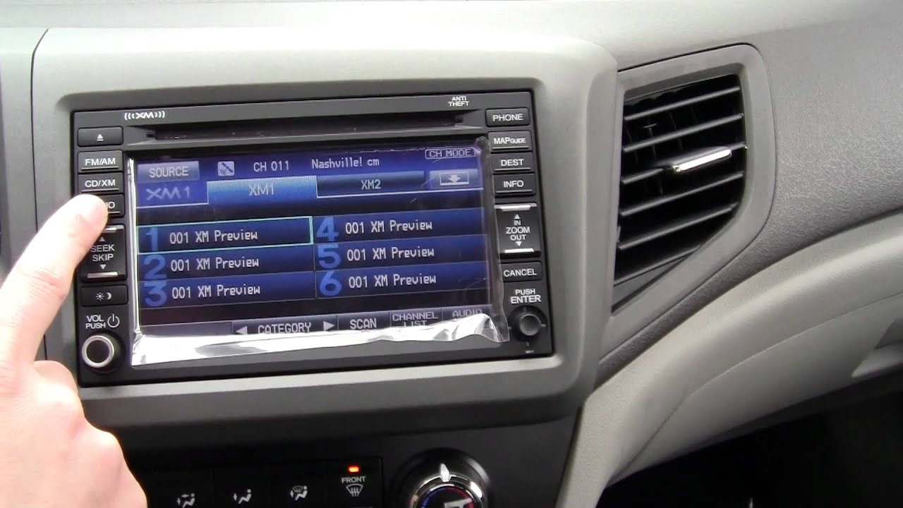 2012 honda civic ex l with navi interior dash and navigation operation youtube