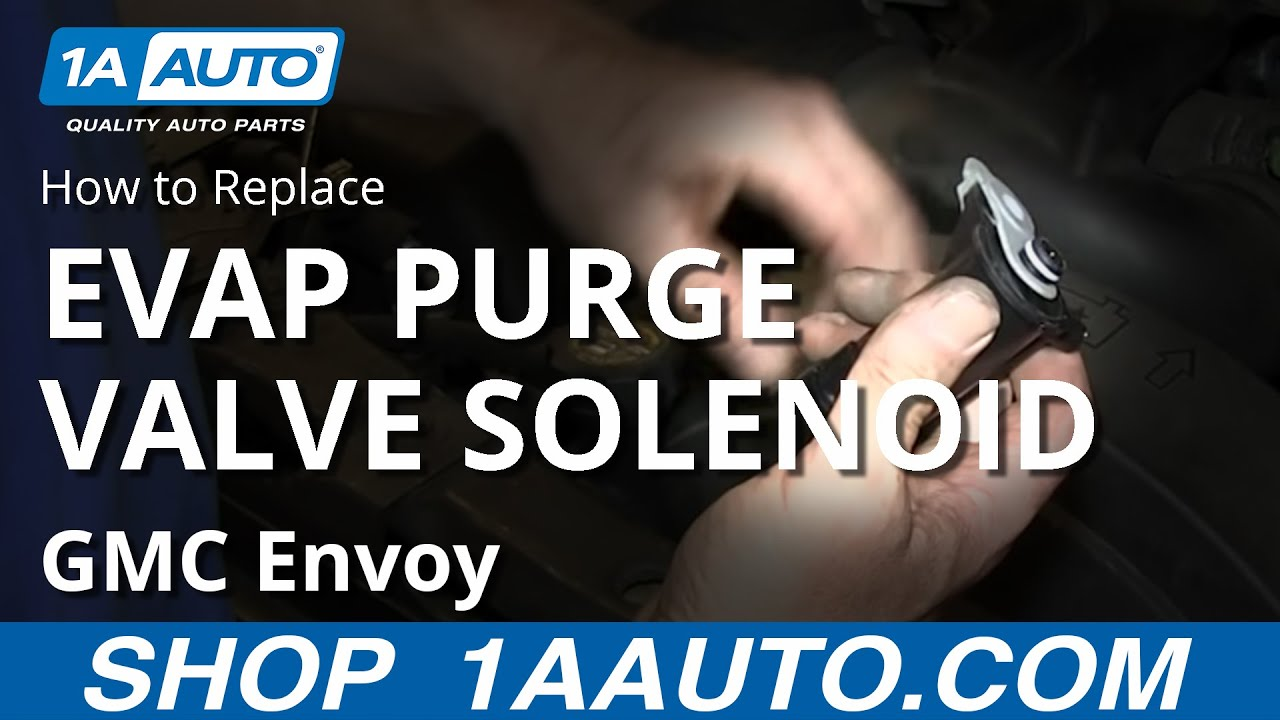 How To Install Replace Vapor Canister Solenoid Purge Valve 53L GMC Envoy Chevy Trailblazer