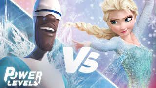 The Incredibles' Frozone vs Frozen's Elsa | Power Levels