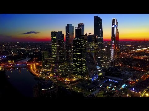 Москва-Сити / Moscow-city Night Flight
