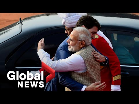 India's Modi bear hugs Justin Trudeau after dinner-invite controversy