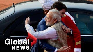India's Modi bear hugs Justin Trudeau after dinner-invite controversy