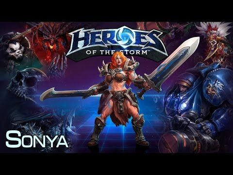 видео: heroes of the storm - sonya 23.07.14 (1)