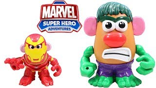 Marvel Mr Potato Head Hulk & Iron Man Agents of S.P.U.D. Pack Playskool Friends Adventure!
