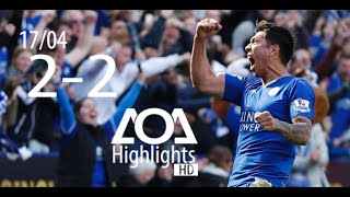 Leicester City vs West Ham 2-2  17/04 All Goals & Highlights 2016