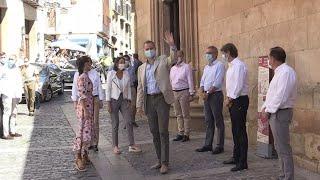 Los Reyes se reúnen con 20 personalidades en su visita a Soria