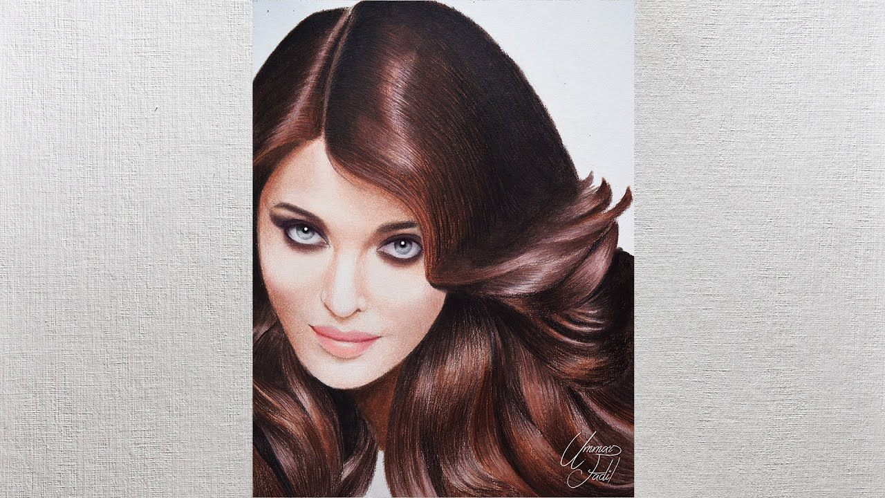 How To Draw Hair Using Colored Pencils Drawing Tutorial