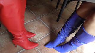 High Heel Leather Boots Footsie II
