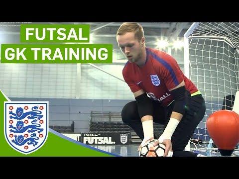 Close-range Blocks And Agility Drills | England Futsal Goalkeeper Training