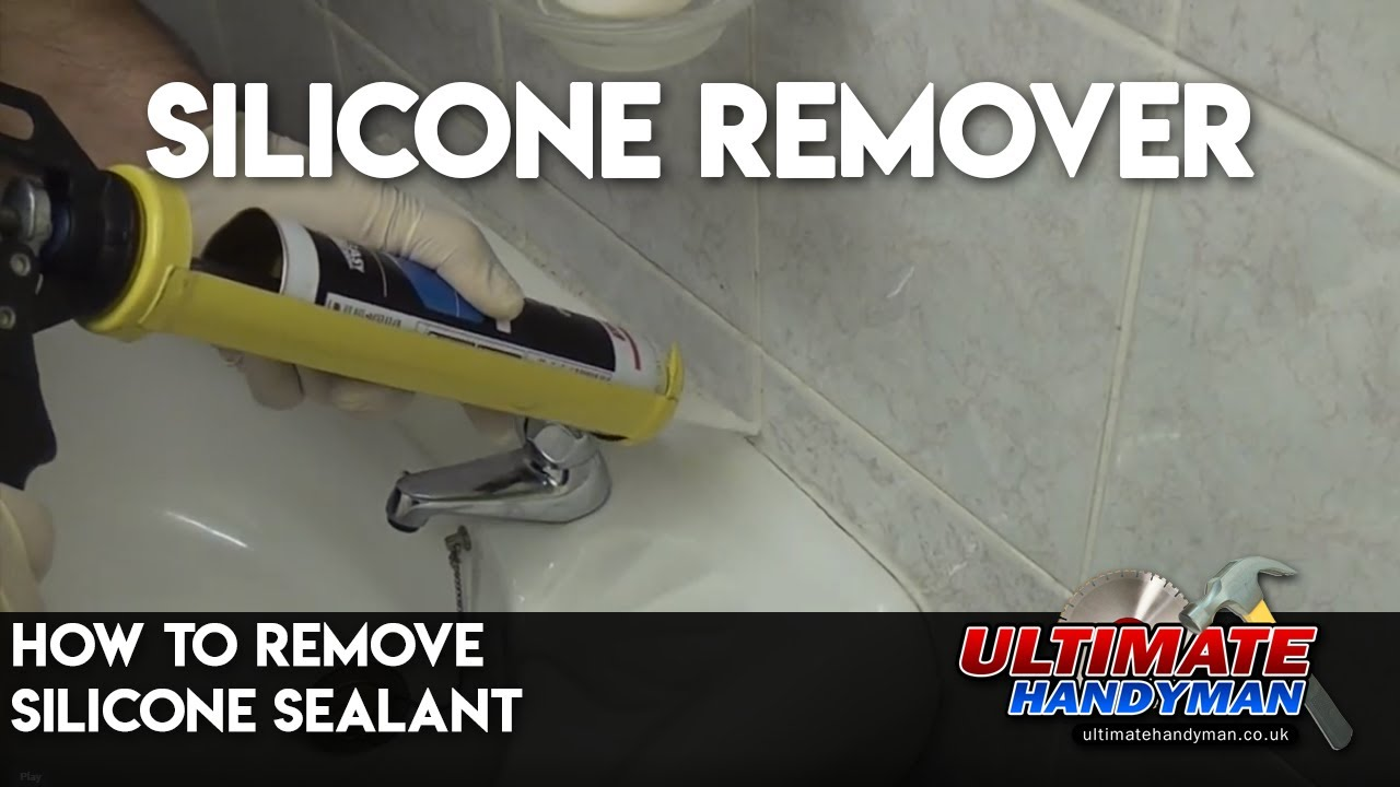 How To Remove Silicone Sealant Youtube
