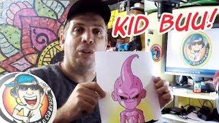 Como desenhar KID BUU de Dragon Ball Z - passo a passo