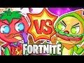EPIC FORTNITE FOOD FIGHT! TOMATOES VS. BURGERS!