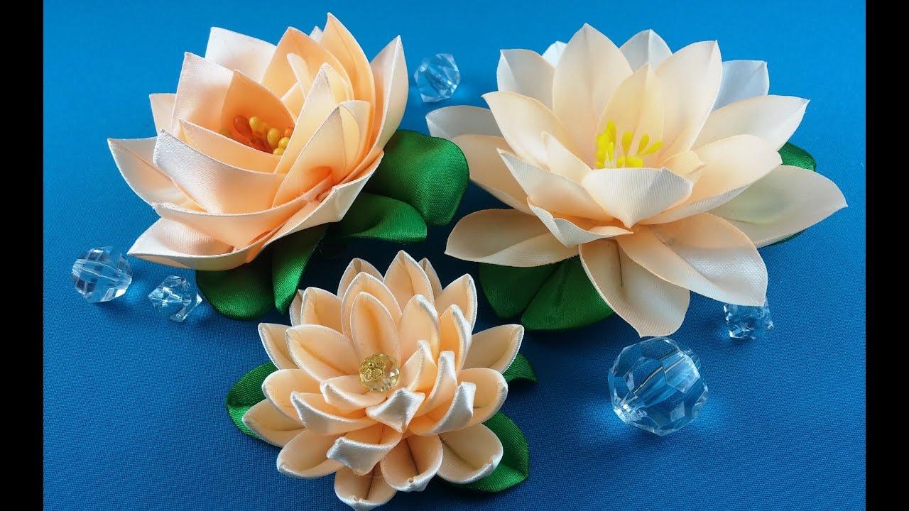 Ribbon Lotus3 Ways To Makelotus De Las Cintas3 Variantes De Hacer