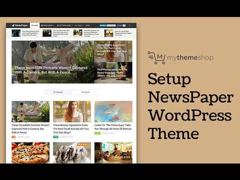 NewsPaper WordPress Theme Setup Tutorial